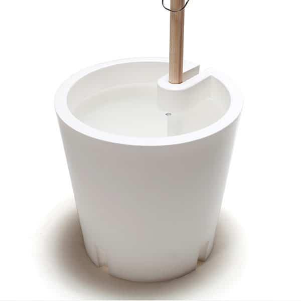 fahrbarer Pflanzenkübel - Plant Trolley mit Rankhilfe und Bewässerung