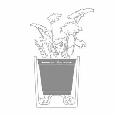 Spicepot Skizze, Übertopf