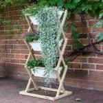 Pflanzgestell bepflanzt, 3 Kästen