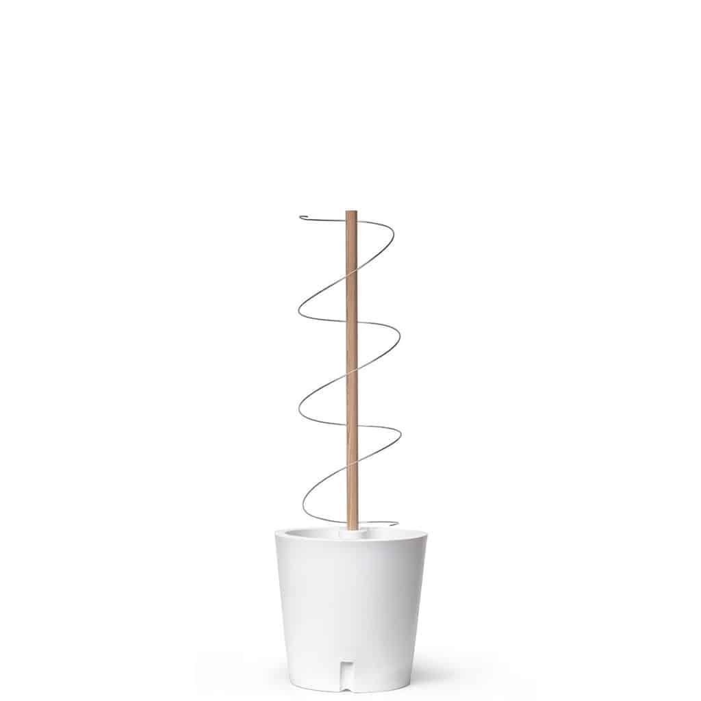 Beweglicher Pflanzkübel aus Kunststoff auf Rollen